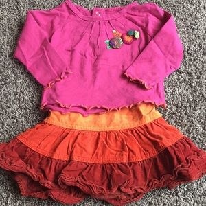 Baby girls matching skirt and top